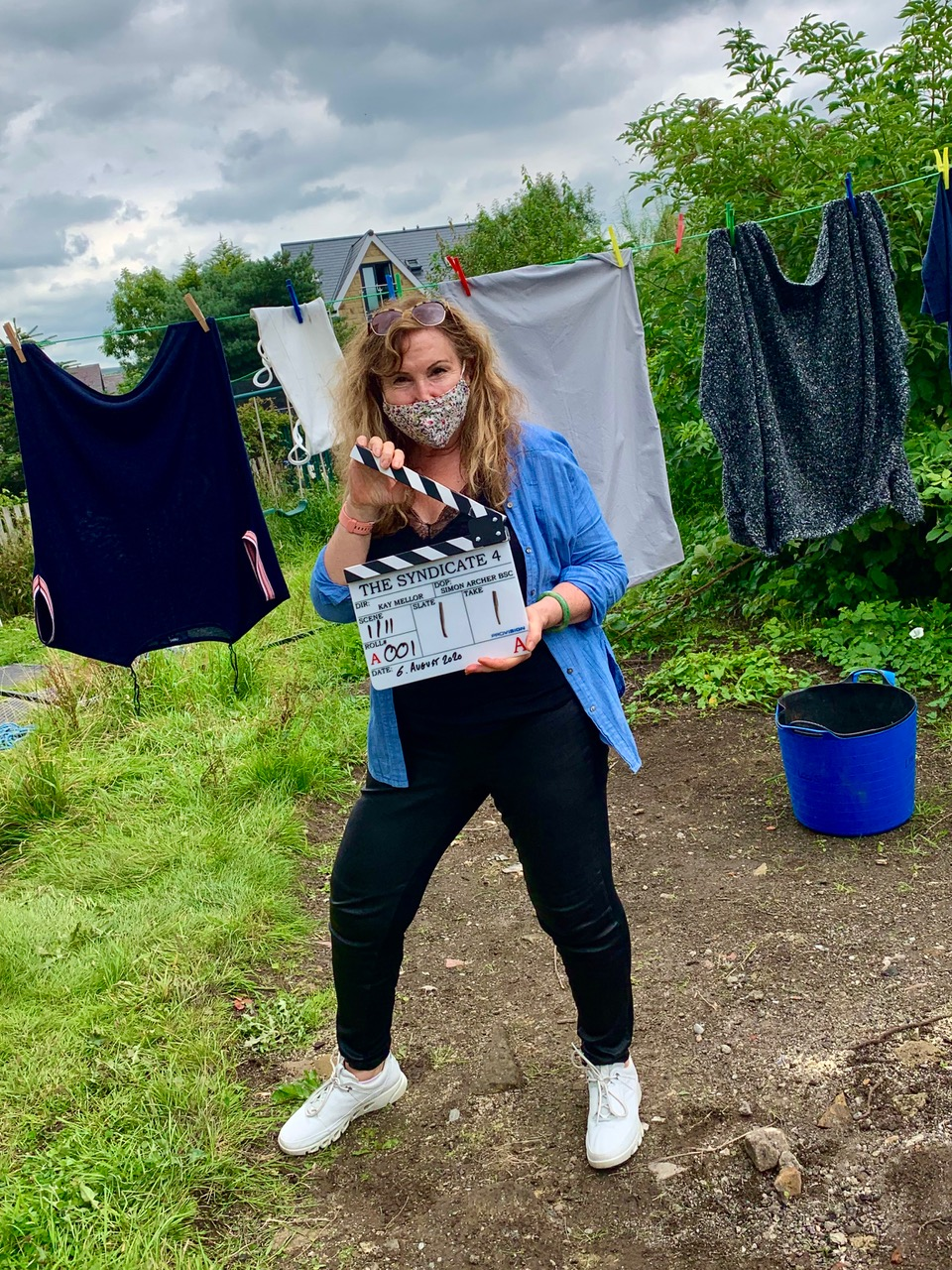 'The Syndicate' writer / director Kay Mellor on set